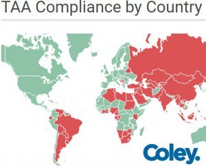 Map of TAA Compliant Countries