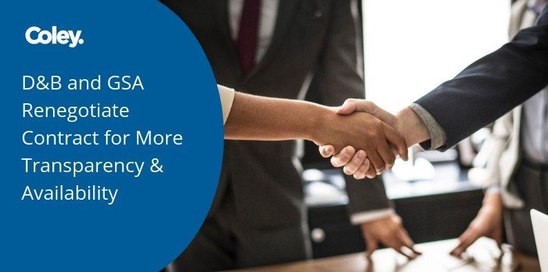 DnB and GSA Renegotiate Contract