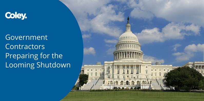Government Contractors Preparing for the Looming Shutdown