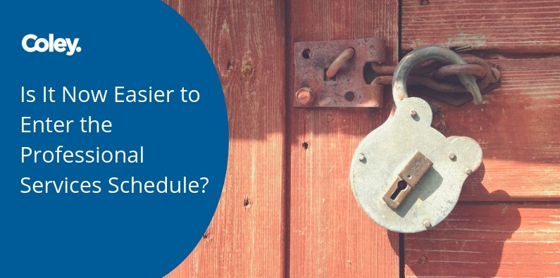 Is it Now Easier to Enter the Professional Services Schedule?