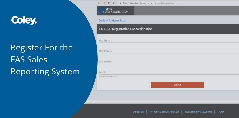 Register For the New FAS Sales Reporting System