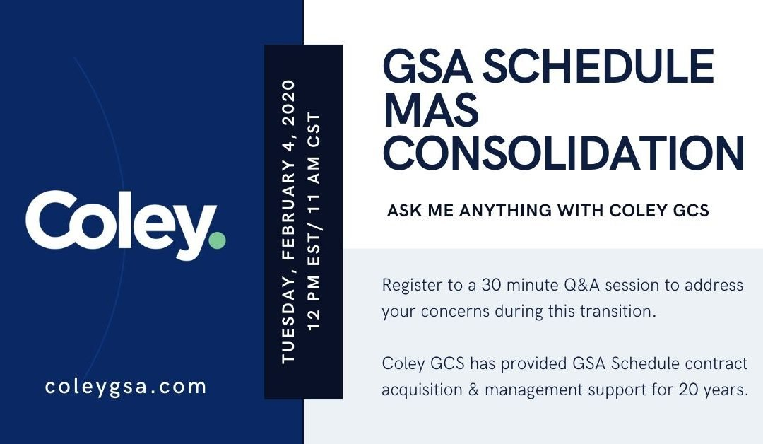 MAS Consolidation – AMA with Coley GCS