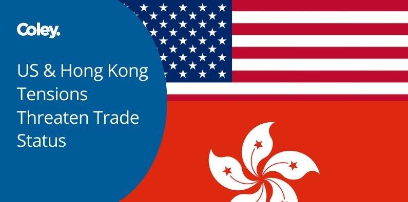 US-Hong-Kong-Tensions-Threaten-Trade-Status