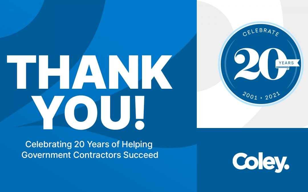 Celebrating 20 Years of Helping Government Contractors Succeed