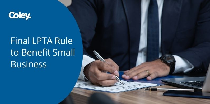 Final LPTA Rule to Benefit Small Business