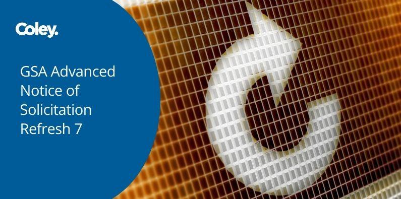 GSA Advanced Notice of Solicitation Refresh 7